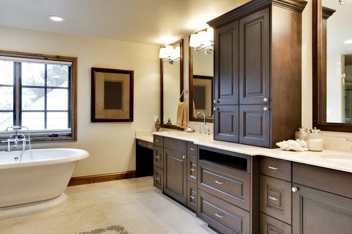 Bathroom with Custom Cabinetry